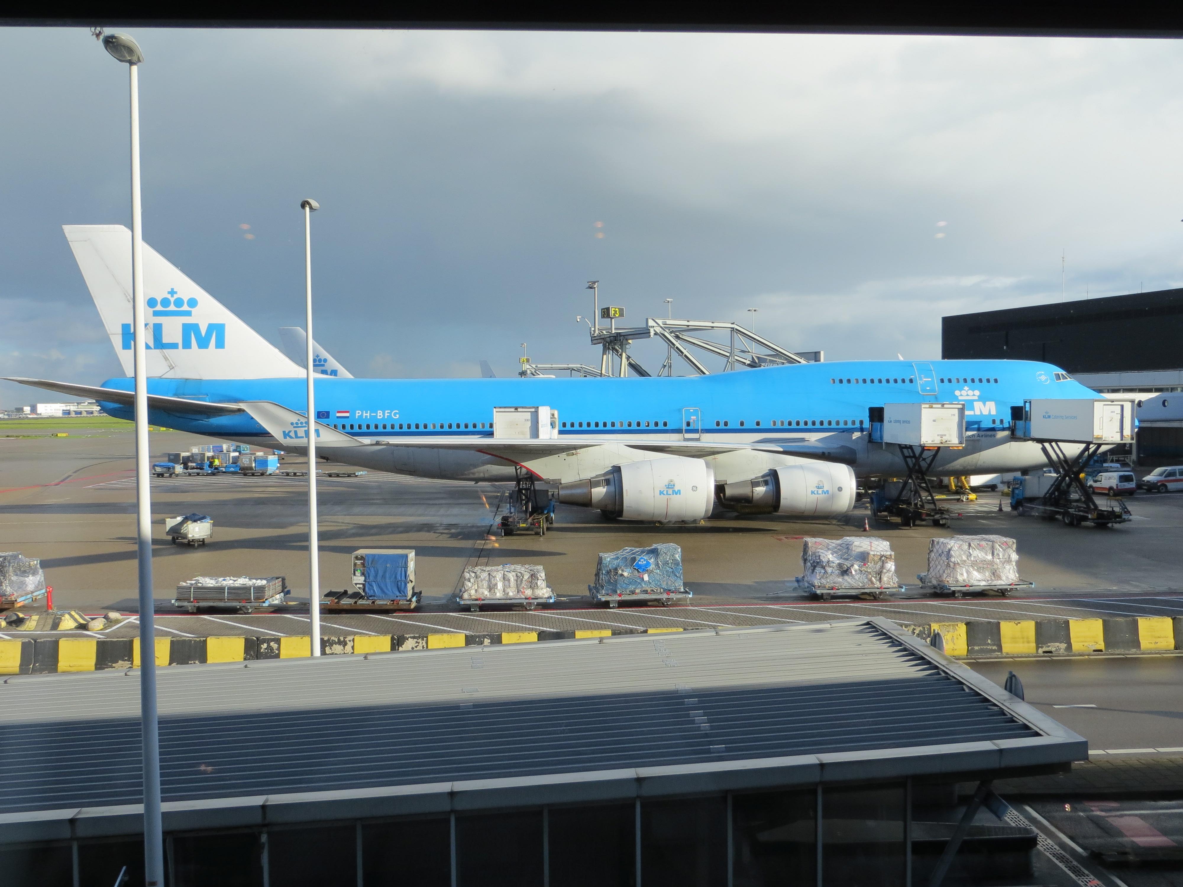 Ons KLM vliegtuig