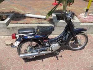 Het populairste vervoermiddel in Suriname naast de auto, de bromfiets