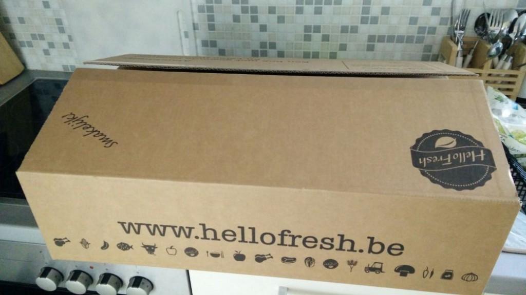 De doos bij levering.